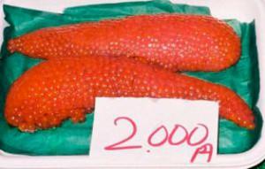 Huevas de salmón